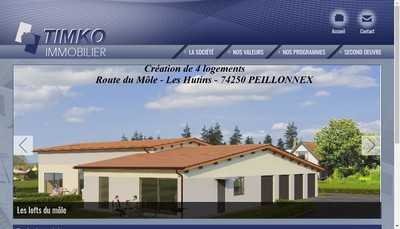Site internet de Timko Immobilier