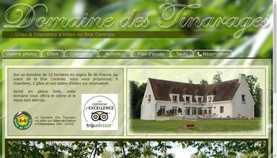 Site internet de Domaine des Tinarages