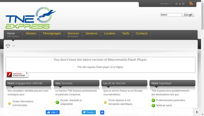 Site internet de TNE Express