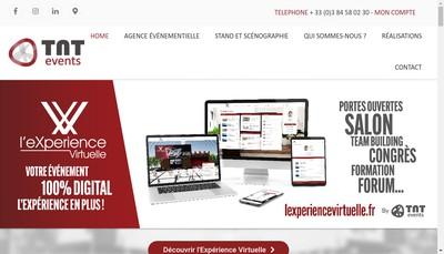 Site internet de Tnt Events