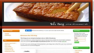 Site internet de Tofu Hong