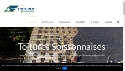 Site internet de Toitures Soissonnaises