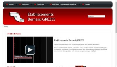 Site internet de Holding Grezes