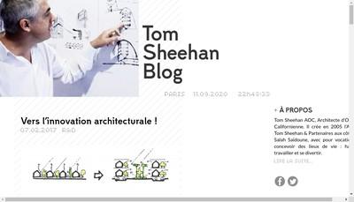 Site internet de Atelier Tom Sheehan et Partenaire