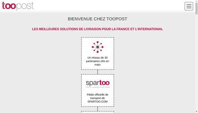 Site internet de Toopost