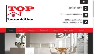 Site internet de Top Immobilier