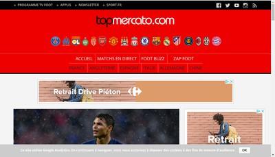 Site internet de Top Mercato