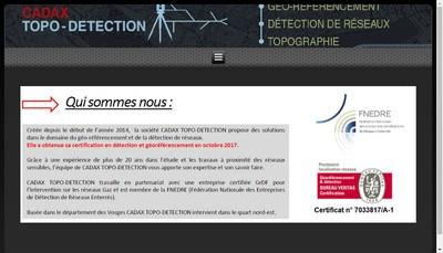 Site internet de Cadax - Topo-Detection