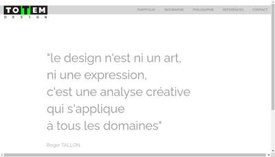 Site internet de Totem Design