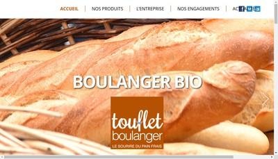 Site internet de Touflet Boulanger