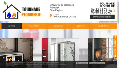 Site internet de Tournade Plomberie