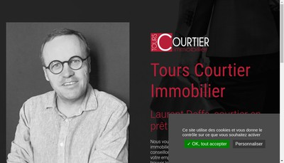 Site internet de Tours Courtier Immobilier