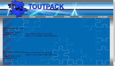 Site internet de Toutpack
