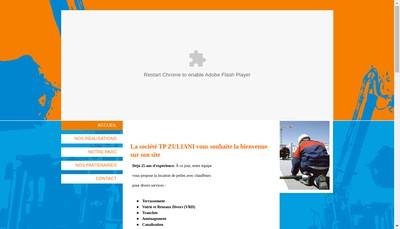 Site internet de Travaux Publics Zuliani SAS