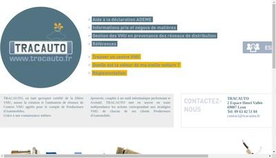 Site internet de Tracauto