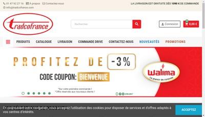 Site internet de Tradco France
