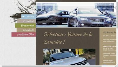 Site internet de Tradition Automobile