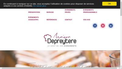 Site internet de Groupe Depreytere Restauration