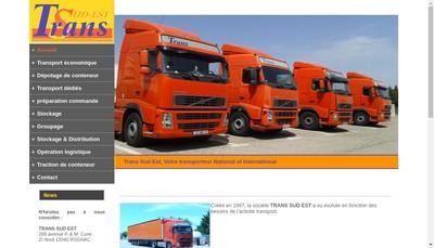 Site internet de Trans Sud Est