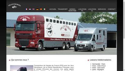 Site internet de Trans'Horses