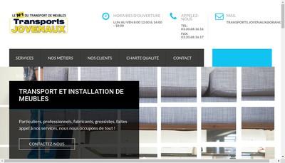 Site internet de Transports Jovenaux