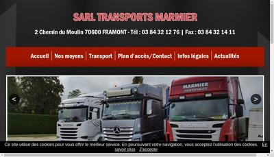 Site internet de SARL Transports Marmier