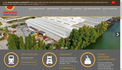 Site internet de Transports B Michaud