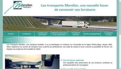Site internet de Transports Morellon