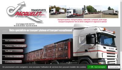 Site internet de Transports Pacquelet
