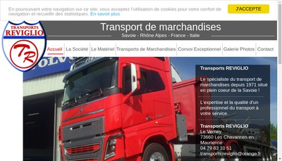 Site internet de SARL Transports Reviglio
