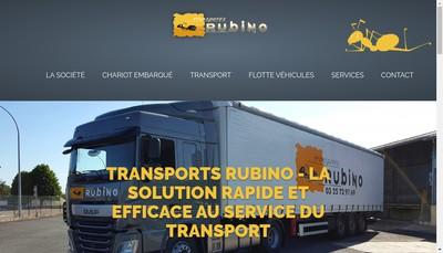 Site internet de Rubino Transport