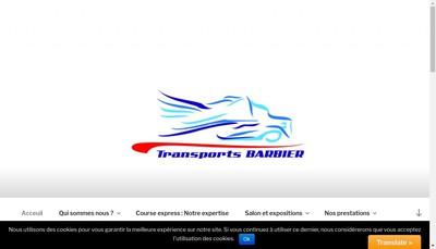 Site internet de Transports Barbier