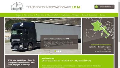 Site internet de Transports Internationaux JDM