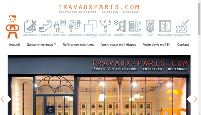 Site internet de Travauxparis Com