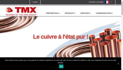 Site internet de Trefimetaux SAS