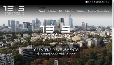 Site internet de Les Pieds Tanques - 13Et5