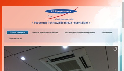 Site internet de TR Equipements