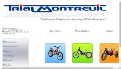 Site internet de Trial Montreuil