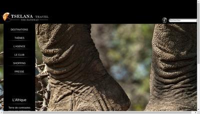 Site internet de Tselana Travel