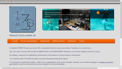 Site internet de Travaux Sous Marins 3D