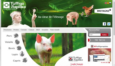 Site internet de Tuffigo Rapidex