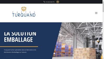 Site internet de Les Cartonnages Turquand