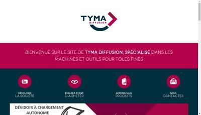 Site internet de Tyma Diffusion