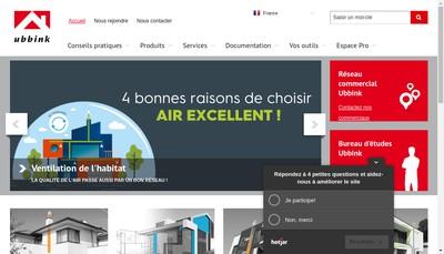 Site internet de Ubbink France