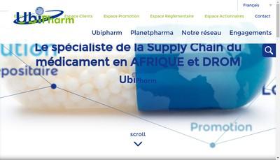 Site internet de Ubipharm
