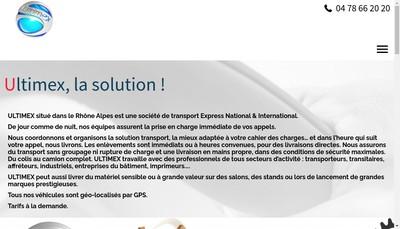 Site internet de Ultimex