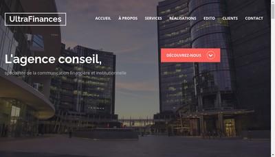 Site internet de Ultrafinances