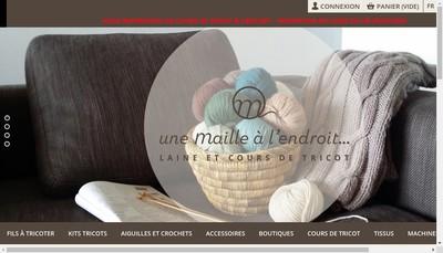 Site internet de Une Maille a l'Endroit