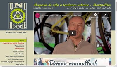 Site internet de Uni Re-Cycle