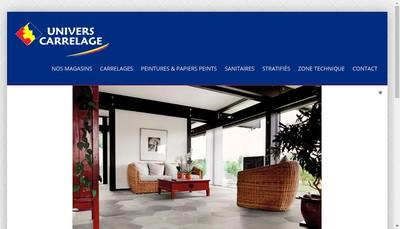 Site internet de Univers Carrelage